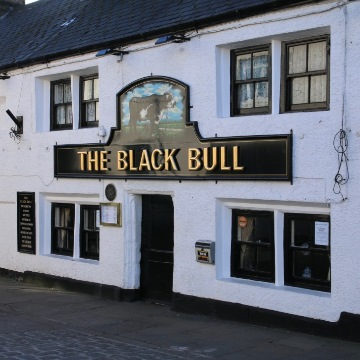Picture of the front of the Black Bull pub