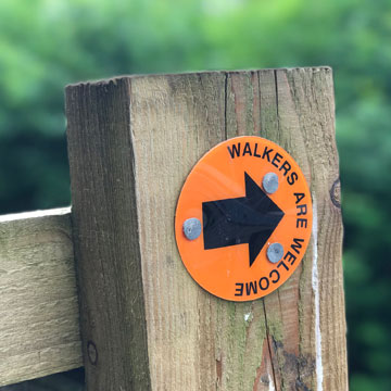 walkers are welcome sign