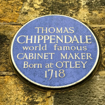 Image of Thomas Chippendale plaque