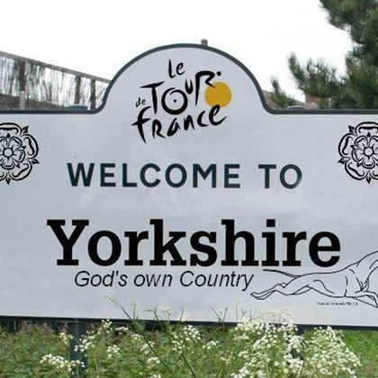 Welcome to Yorkshire Tour de France sign
